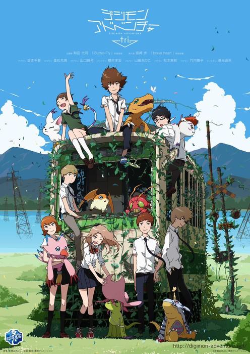 Nova imagem de divulgação do anime Digimon tri